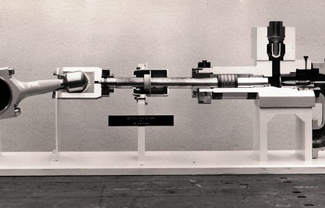 Typical H3 Pump, shown in section and with the cover removed, c.1968