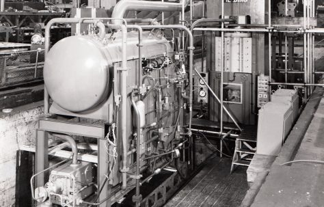 500 ton Cold Forming Press, under construction, O/No. 70420, c.1968