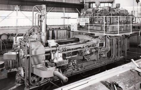 1600 ton Horizontal Extrusion Press, O/No. E71910, c.1968