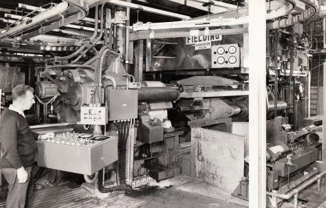 1600 ton Horizontal Extrusion Press, view taken on site in 1970, O/No. E74110, c.1969