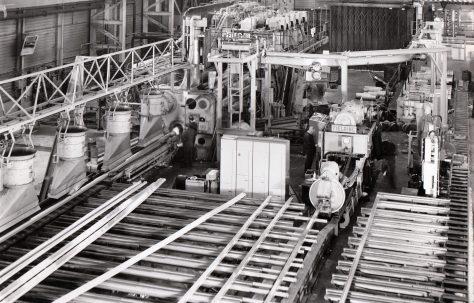 3500 ton Horizontal Extrusion Press, views taken on site in 1970, O/No. E71130, c.1968