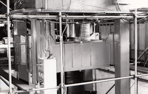 500 ton Vertical Press under construction, view taken in 1970, O/No. V73850, c.1969