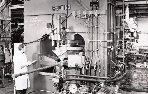 800 ton Powder Press, views taken in 1970, O/No. X74140, c.1969