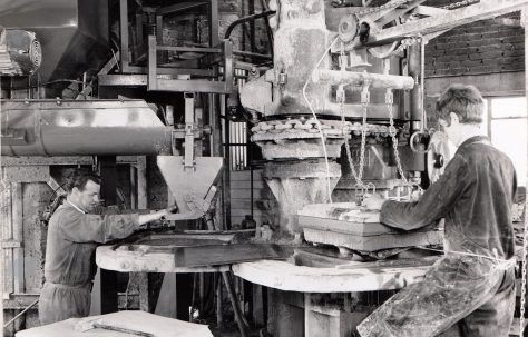 400 ton Water-Powered Three-Mould Concrete Press, c.1970