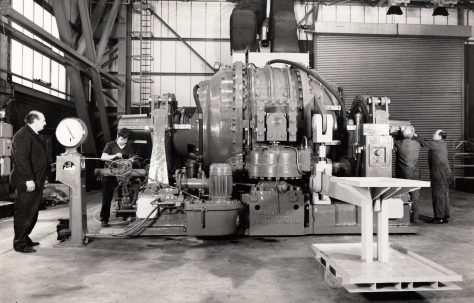 Heenan & Froude Dynamometer at final assembly, also on a low-loader, c.1971