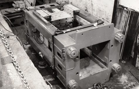 Frame belonging to 550 ton Double-Action Drawing Press, view taken in 1971, O/No. V76130, c.1969