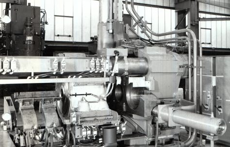 1600 ton Horizontal Extrusion Press, views taken at assembly in 1971 and on site in 1972, O/No. E76630, c.1971