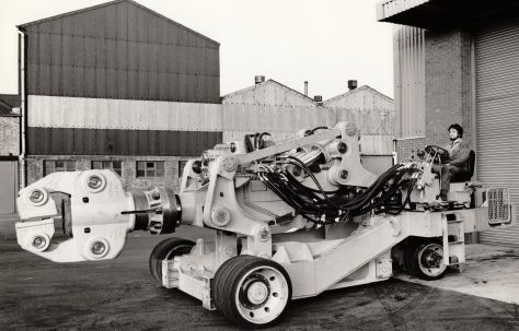 8 ton Mobile Manipulator, supplied to British Steel, River Don Works, Sheffield, O/No. X78940, c.1971