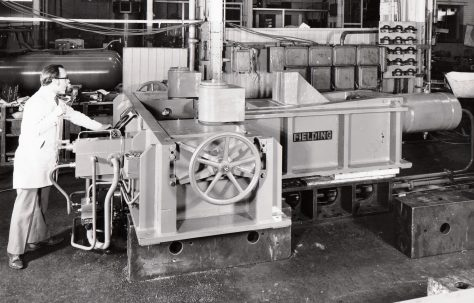 150 ton Clear Bed-Type Pipe Bender, O/No. X79970, c.1971