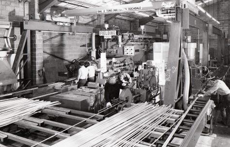 900 ton Horizontal Extrusion Press, view taken on site, O/No. E79450, c.1971
