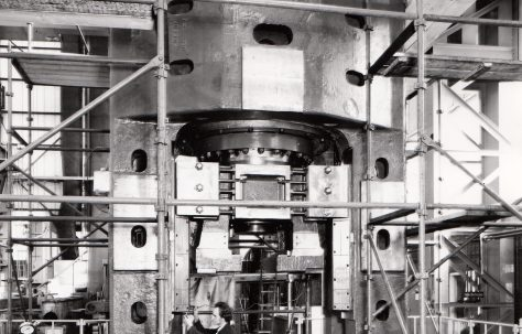 2000 ton Pierce Press, under construction in the new fitting shop, O/No. X78000, c.1972