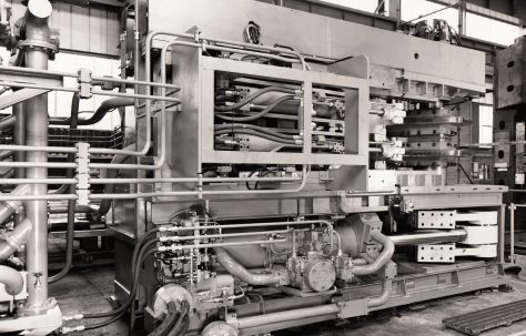 Redman, Series 6, Mk2, Bumper Bar Forming Machine, fitted with 'dummy' tooling, O/No. W81760, c.1972