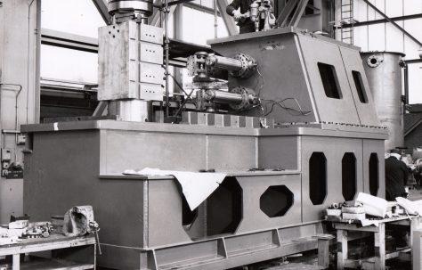 Redman, Series 6, Mk2, Bumper Bar Forming Machine, under construction, O/No. W82750, c.1973