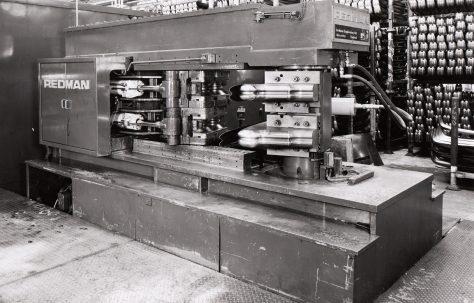 Redman, Series 6, Mk1, Bumper Bar Forming Machine, views taken on site, O/No. W84230, c.1973