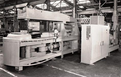 Redman, Series 5 Bumper Bar Forming Machine, views taken during assembly, c.1973