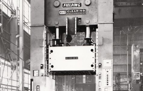 1000 ton Downstroking 'Fielding/Clearing' Mechanical Press, Type SE4-1000-108-60, O/No. C84800, c.1973
