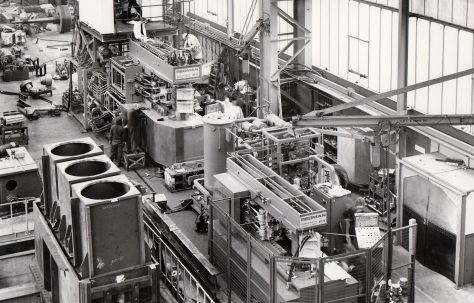 Redman Series 6, Mk 1 & Mk 2 Bumper Bar Forming Machines, under construction in the new fitting shop, O/No. W84750 & W86250, c.1974