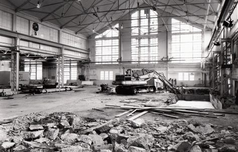 Foundations being prepared for two new Horizontal Extrusion Presses, O/No. E85590, c.1973