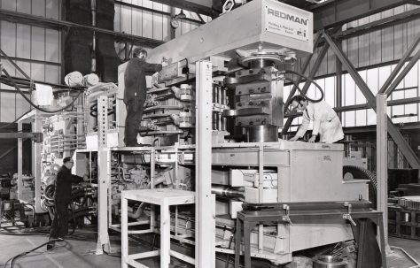 Redman, Series 6, Mk2, Bumper Bar Forming Machine, fitted with 'dummy' tooling, O/No. W85100, c.1974