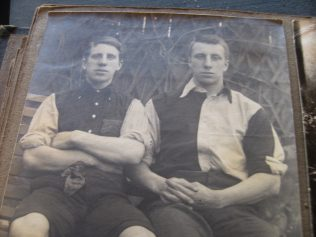 Arthur Fielding (left) with his brother Frank.  You can click on the image to see a larger version of it | Audrey Meredith
