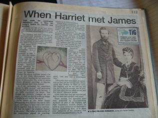 The story of Harriet and James' romance, as recounted in the Citizen.  You can click on this image to see a larger version of it | The Citizen