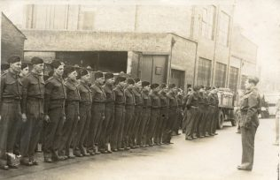 Fielding and Platt Home Guard on parade, c1940   T A Williams