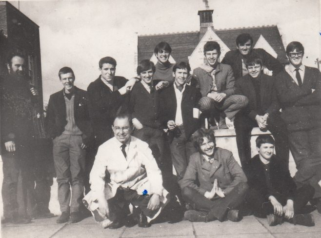 F & P Apprentices outside Gloucester Technical College Brunswick Road