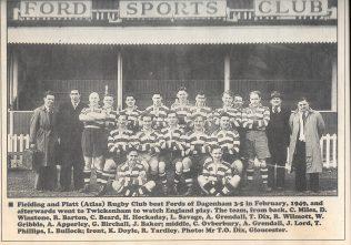 Fielding & Platt RFC, c.1949 | Photo supplied by T. Dix to The Citizen