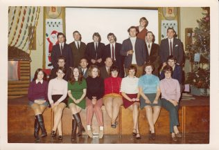 Children's Christmas Party Committee. Denise is on front row extreme right.