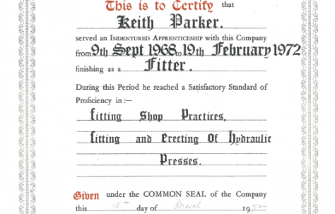Apprentice Indentures/Agreements