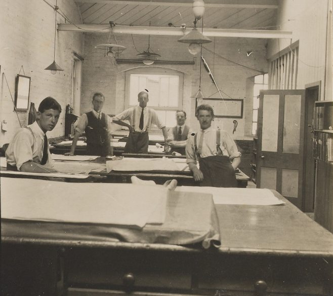 The Drawing Office in the 1920s (click to enlarge) | Gloucestershire Archives