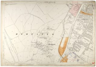 Ordnance Survey Map of Hempsted (1902) held at Gloucestershire Archives (reference D2428/3/33/2)