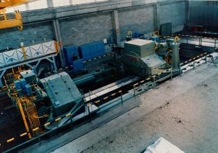 3,900 Aluminium Plate Stretcher being installed at CEGEDUR's Works in Issoire, France   Gloucestershire Archives