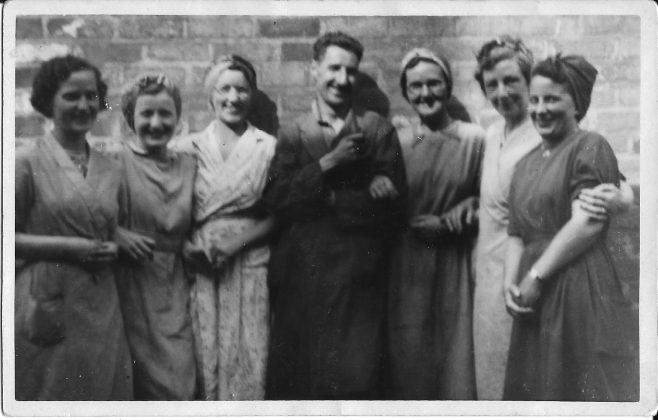 Six female wartime workers and