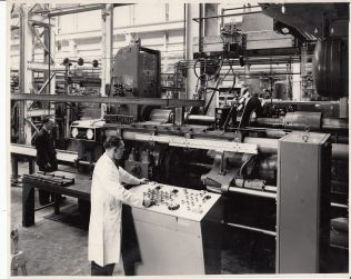 Bob Phelps at the Control Panel of an Extrusion Press (with audio clip)