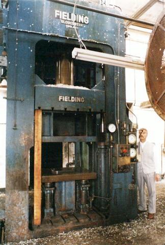 Fielding 300 ton Press | Kindly supplied by Ephraim Hernandez