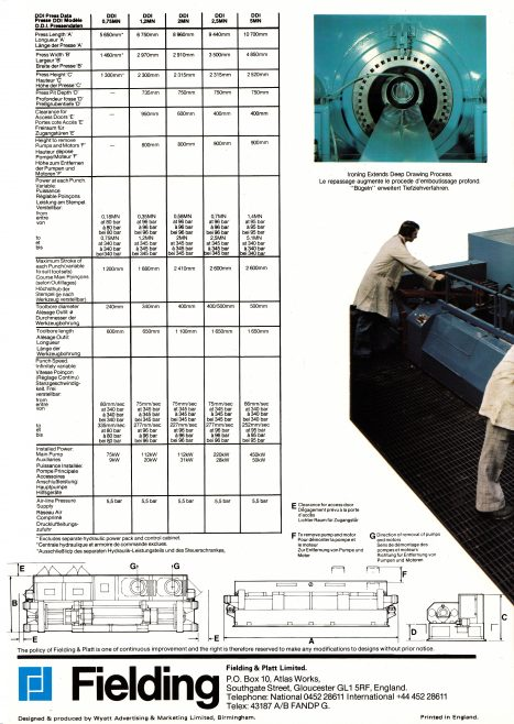 Fielding DDI Brochure_10  (Rear page) | Supplied by John Bancroft