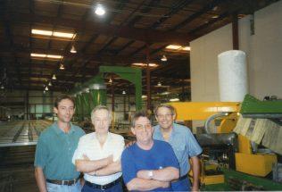 Stewart Brown, Brian Billingham, Dennis King and George.