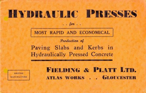 Hydraulic Presses for production of Paving Slabs and Kerbs
