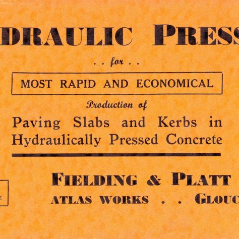 Hydraulic Presses for Paving Slabs and Kerbs | Gloucestershire Archives and John Bancroft copy