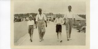 About 1933, L to R: Arthur Williams, Henry A Williams, Jimmy Pitt and Lance Pitt