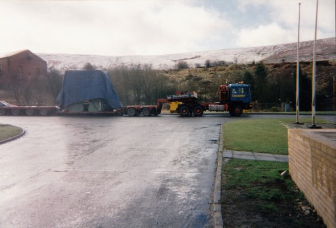 JB119  Arrival at Blaenavon, note the snow in the background! | Supplied by John Bancroft