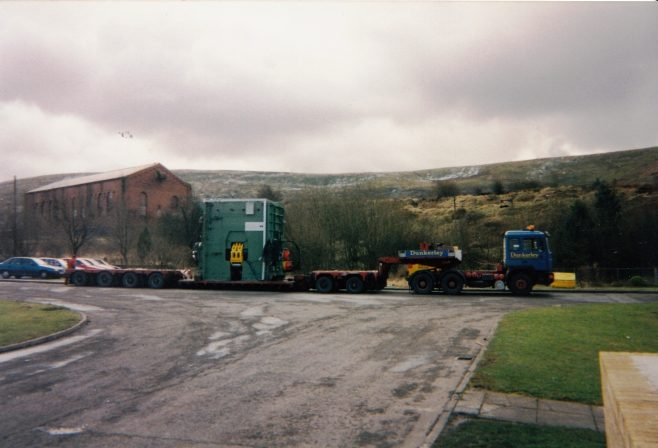 JB120  Arrival at Blaenavon, note the snow in the background! | Supplied by John Bancroft