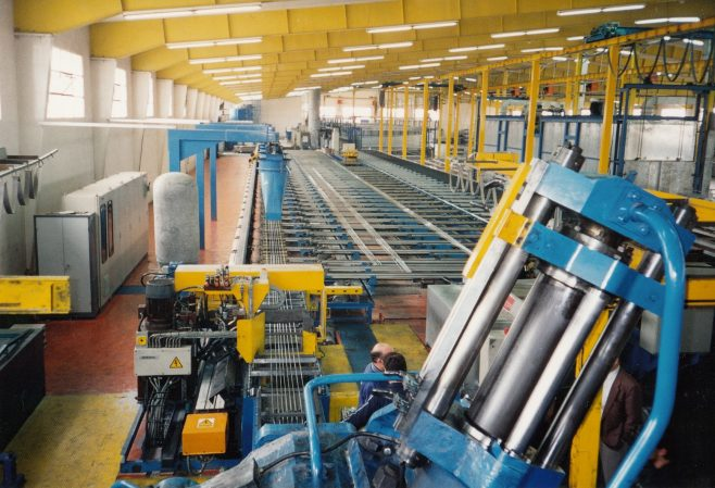JB343  View from top of press, run-out tables in rear | Supplied by John Bancroft