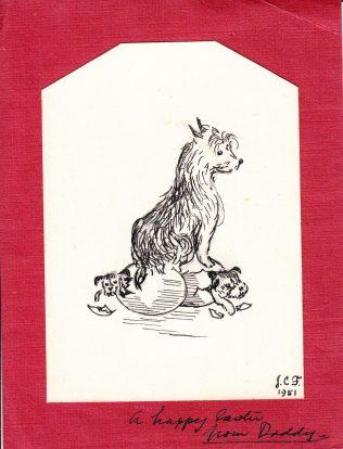 Jack Fielding Easter card, 1951   Pippa Edwards