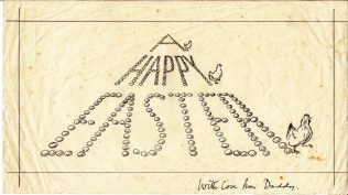 Jack Fielding Easter card, undated   Pippa Edwards