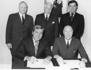Jack Baker (Company Secretary), centre back, D V Rowles Right hand side sitting