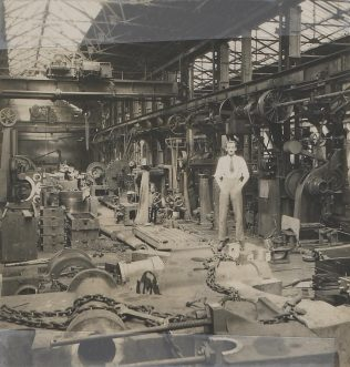Jack Fielding in the Machine Shop in the 1920s