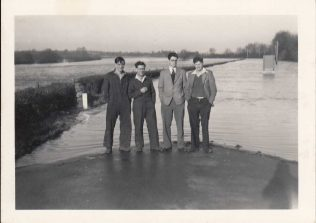 From left, Keith Bullock, ? , Roy Moore, Albert Dawe.