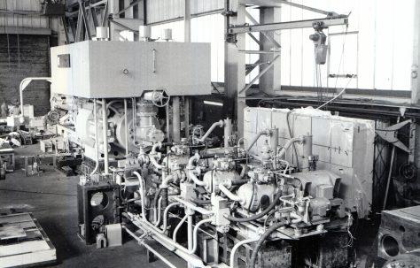 20MN Horizontal Extrusion Press, view taken at erection, O/No. E92100, c.1978